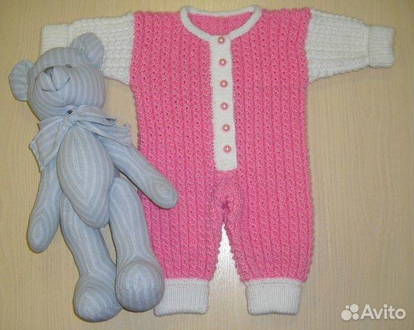 Вязание комбинезона для новорожденных 17
