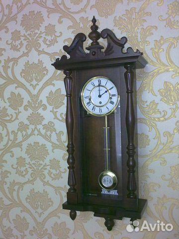 Часы трофейные, привезены кем-то из родственников после войны из Германии.  Красота  белый с позолотой эмалированный циферблат, такой же маятник, ... 250426e4b06