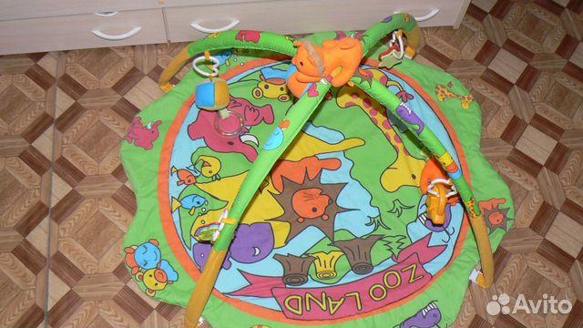 Музыкальный развивающий коврик - Веселый зоопарк. I573875