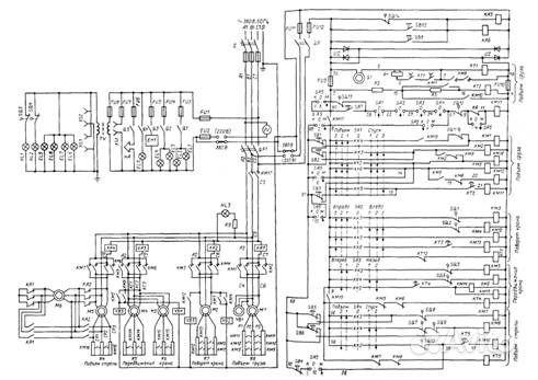 электрической схемы крана