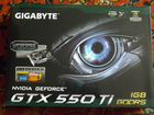 Видеокарта gigabyte GeForce GTX 550Ti, 1Гб, gddr5