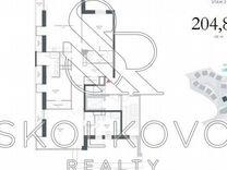 4-к. квартира, 205 м², 2/12 эт.