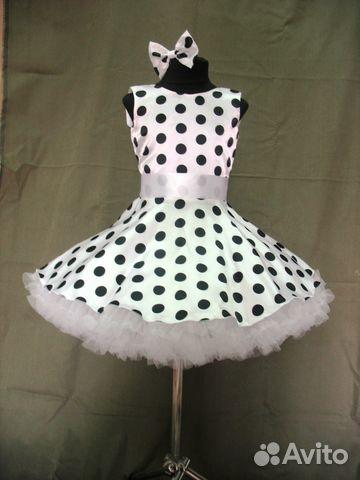 22df2de69a9 Пышное детское платье в стиле стиляг