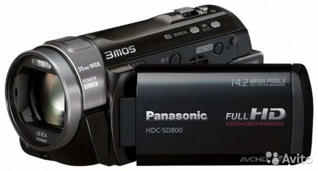 3MOS Видеокамера Panasonic HDC-SD800 c оптич стаб
