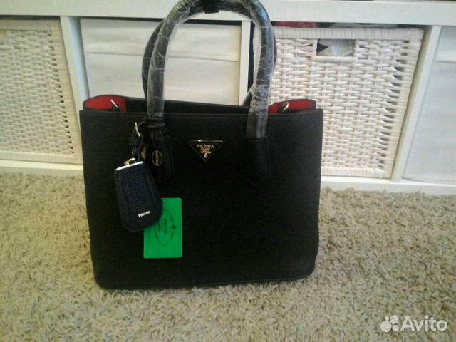 Мужская сумка-планшет Prada люкс, черная, арт 2456-2