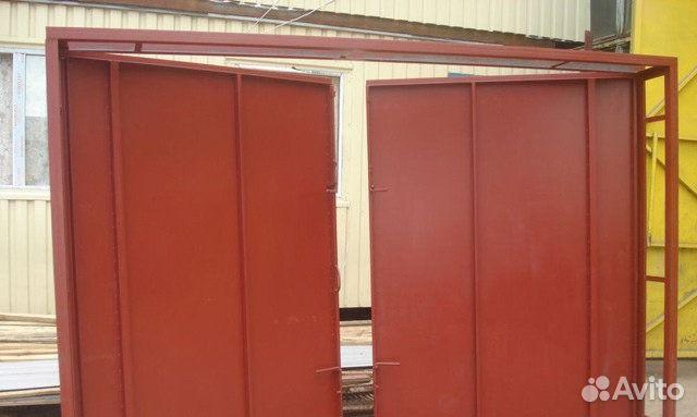 металлические двери распашные гаражные
