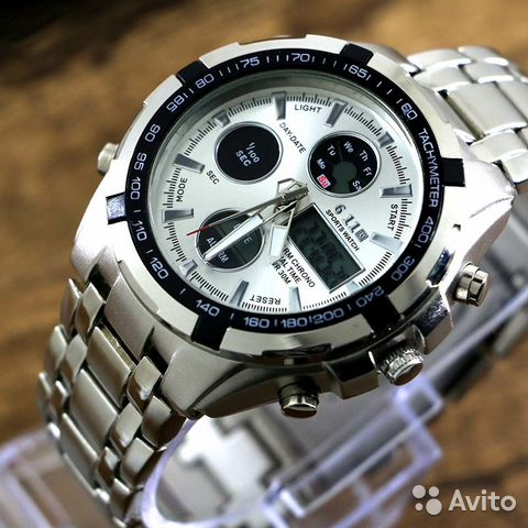 Часы amst с металлическим браслетом