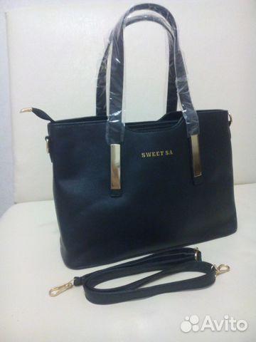 9a6210b34168 Черная и темно-синяя новая сумка купить в Кировской области на Avito ...