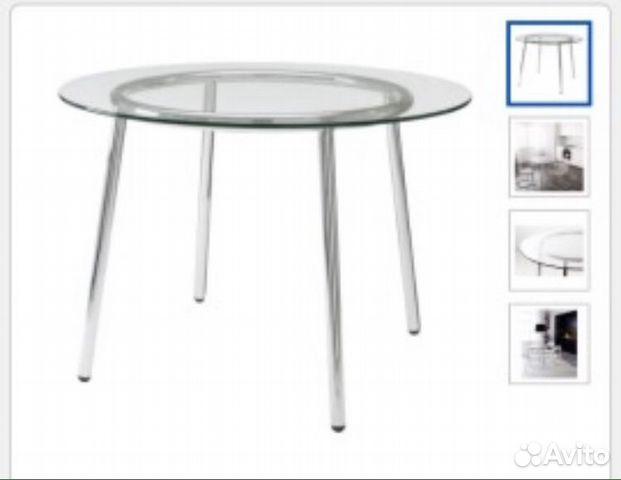 стол икея обеденный круглый стеклянный Festimaru мониторинг