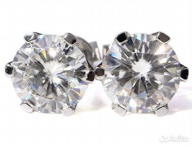 Искусственный бриллиант - серьги купить в Москве на Avito ... fade829a2ae