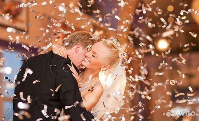 Конфетти на свадьбе фото