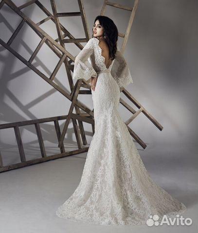 07b86eaf3cf Свадебное платье с рукавами закрытое для венчания купить в Москве на ...