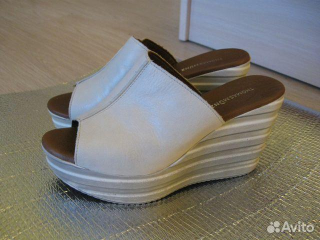 Новые кожаные Сабо Thomas Munz 89502260796 купить 2