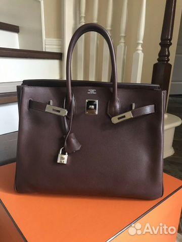 c8671fb77924 Сумка Hermes Birkin 35 leather Evergrain Phw купить в Москве на ...