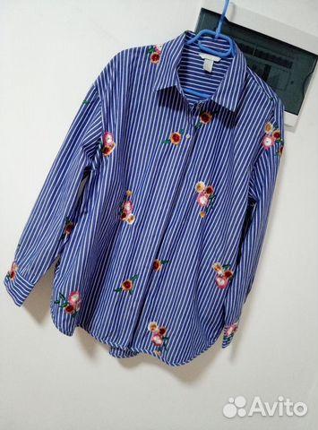 Женская рубашка новая H&M с вышивкой 89062124872 купить 2