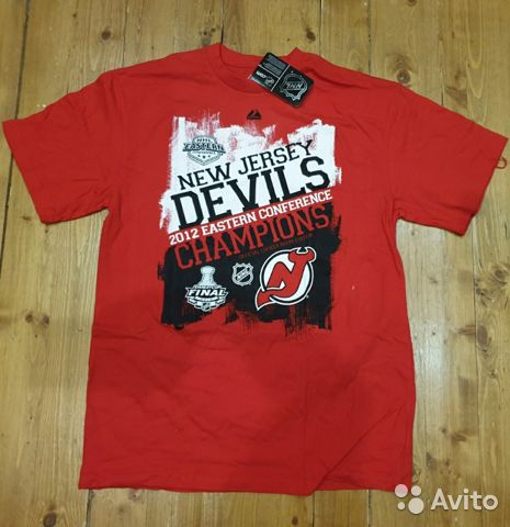 89036020550 Футболка pro stock New Jersey devils, nhl, p. L