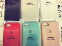 Силиконовый чехол на айфон 7, Apple silicone case