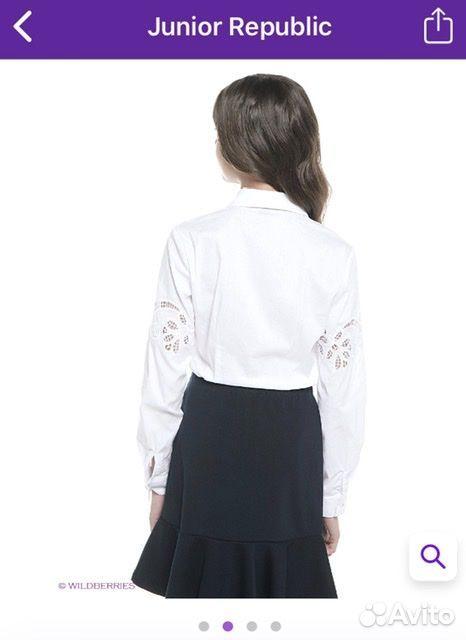 Белая рубашка Junior Republic, 128-134 см  89061562217 купить 2