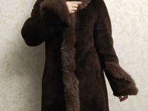 Шуба мутон с песцовой отделкой б/у — Одежда, обувь, аксессуары в Москве