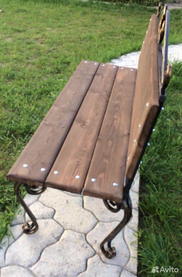Скамейка садовая лавочка с элементами ковки  89231448101 купить 5
