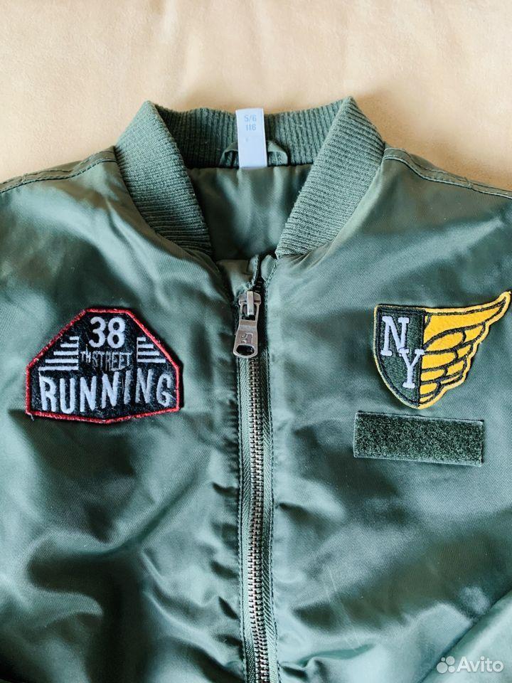 Бомбер р.116 демисезон (куртка утепленная)  89875129176 купить 1