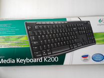 Клавиатура Logitech Media keyboard K200 USB новая