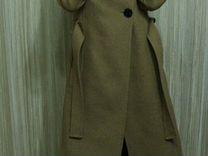Пальто Mango бежевое размер M — Одежда, обувь, аксессуары в Москве
