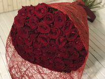 Букет из 51 роз 50см. Доставка цветов в Ставрополе