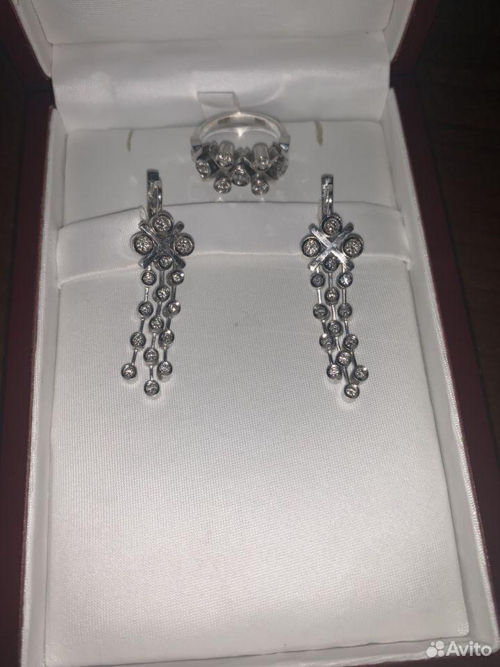 Комплект из Белого золота с бриллиантами  89674183060 купить 3