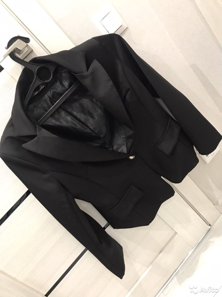Черный пиджак женский  89237291056 купить 1