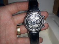 Часы legenda золотые с чёрными бриллиантами