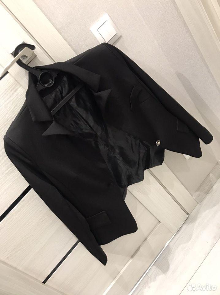 Черный пиджак женский  89237291056 купить 5