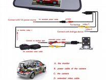 Автомобильная камера заднего вида + зеркало