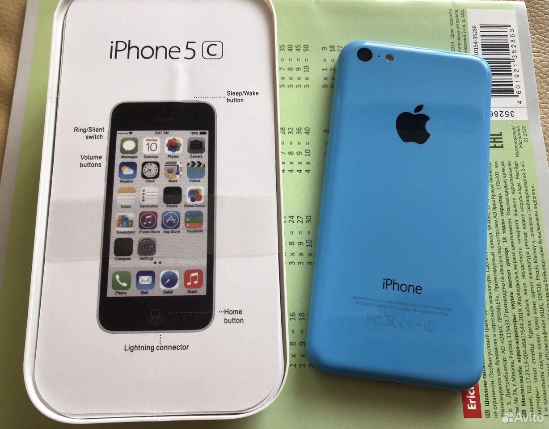 iPhone 5C 16gb голубой комплект в идеале